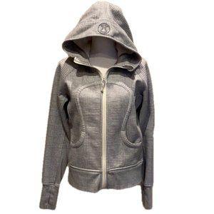 LULULEMON Gray Plaid Jacket Hoodie Zipper
